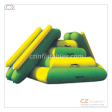Good quality hot sale summer water park games floating slide inflatable tower slide toy