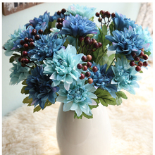 37cm 6 Dahlia heads Simulation Fake Dahlia Bouquet for HouseHold Decoration and Table Vase Flower decoration