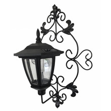 garden festival light geometric metal LED candle solar lantern