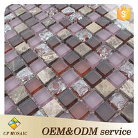 China Foshan Bathroom Design Thickness 8 Mm Glass Mosaic Tile