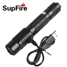 SupFire A3 USB portable high power tactical flashlight usb led light torch aluminum 18650 battery xm-l t6 mini torch