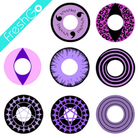 Wholesale Anime Purple Star Circle Lens Coloured Contact Lenses Sharingan Cosplay Lenses Crazy Lenses