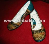ETHNIC SHOES WITH FABRIC INCA