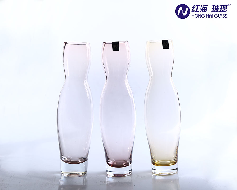 30 cm high terrarium glass vase for wedding table centerpieces with colored vase tinted by honghai glass china handmade 0172p