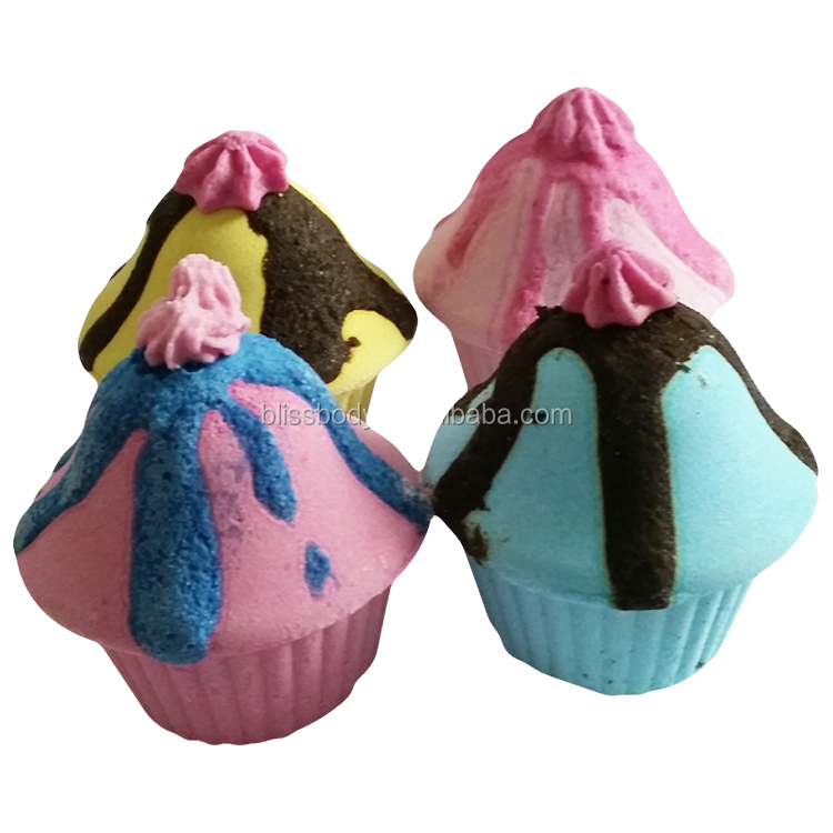 Wholesale handmade cup cake bath bombs with customized package