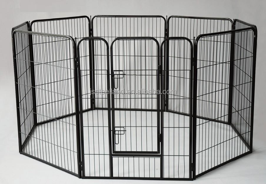 powder coated heavy tube playpen for dogs with one door