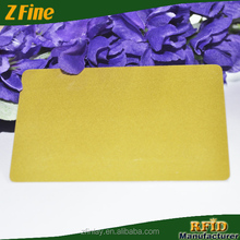 hign end rfid contactless smart card pvc gold background card