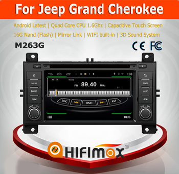 Hifimax Android 4.4.4 Car DVD Radio For Jeep Grand Cherokee 2014(2011-2013)Car Multimedia Player With Wifi 3G INTERNET Bluetooth