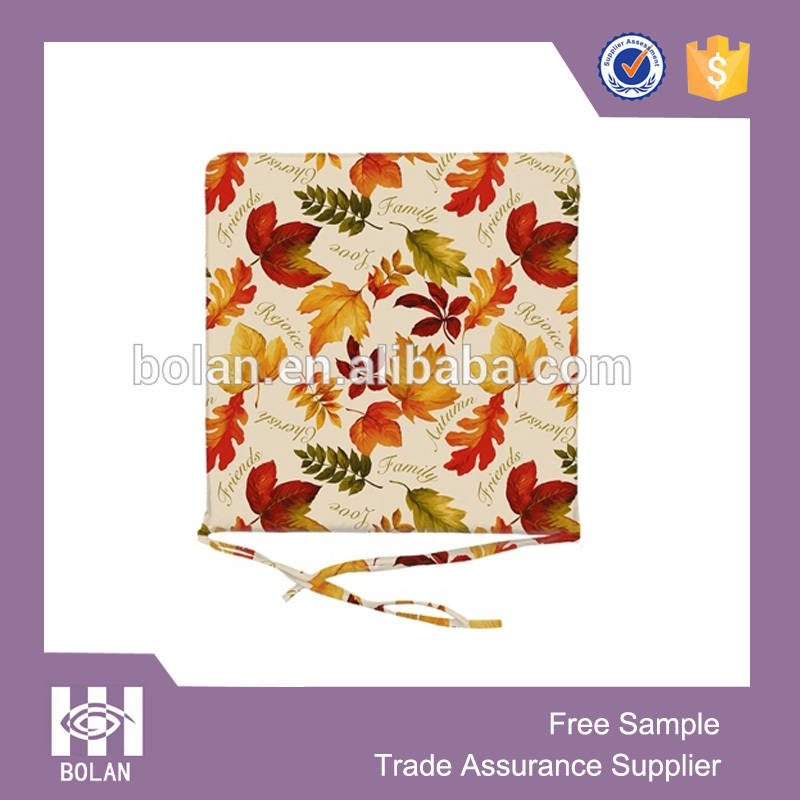 high quality printed chair pads and cushions with ties