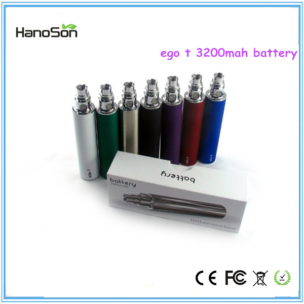 Variable Voltage Max 3200mAH ego-t battery 3.3-4.2V voltage EGO-T 3200mAH for electronic cigare
