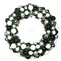 Light up outdoor red berry christmas wreath