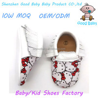 wholesale cheap moccasins prewalker hello kitty cotton fabric baby shoes