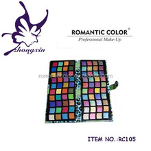 Romantic Color Leather Glitter Eye Shadow Palette Makeup Kit
