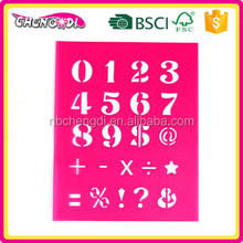 super style Zhengjiang toy and game pp stencil Cartoon Stencils for Kid Craft