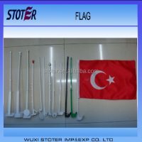 custom Variety shape plastic car window flag poles , car window flag sticks