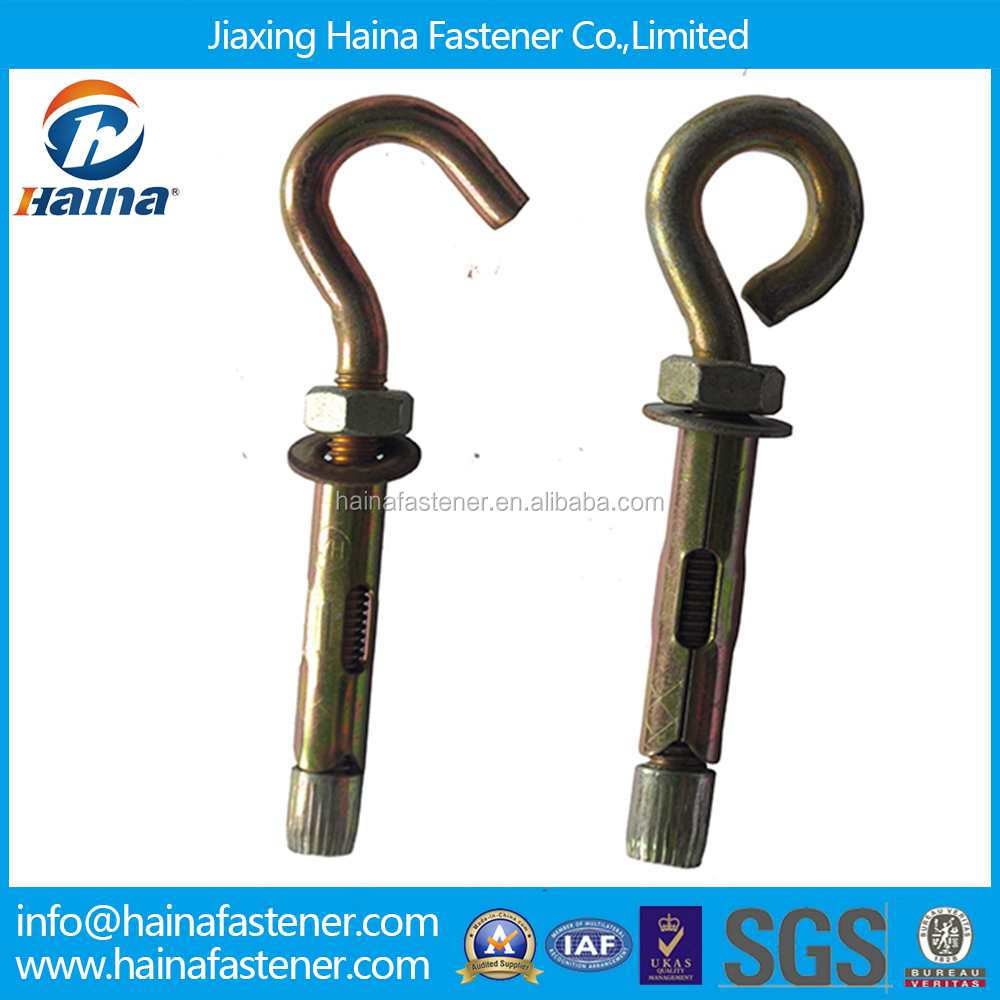 China Supplier Steel Zinc Plated Expansion Bolt Anchor Eye Bolt