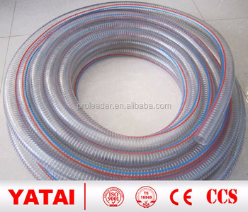 PVC transparent Reinforced Hose Steel Wire Spiral hose pipe