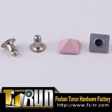 Factory promotional alloy metal rivet with custom logo