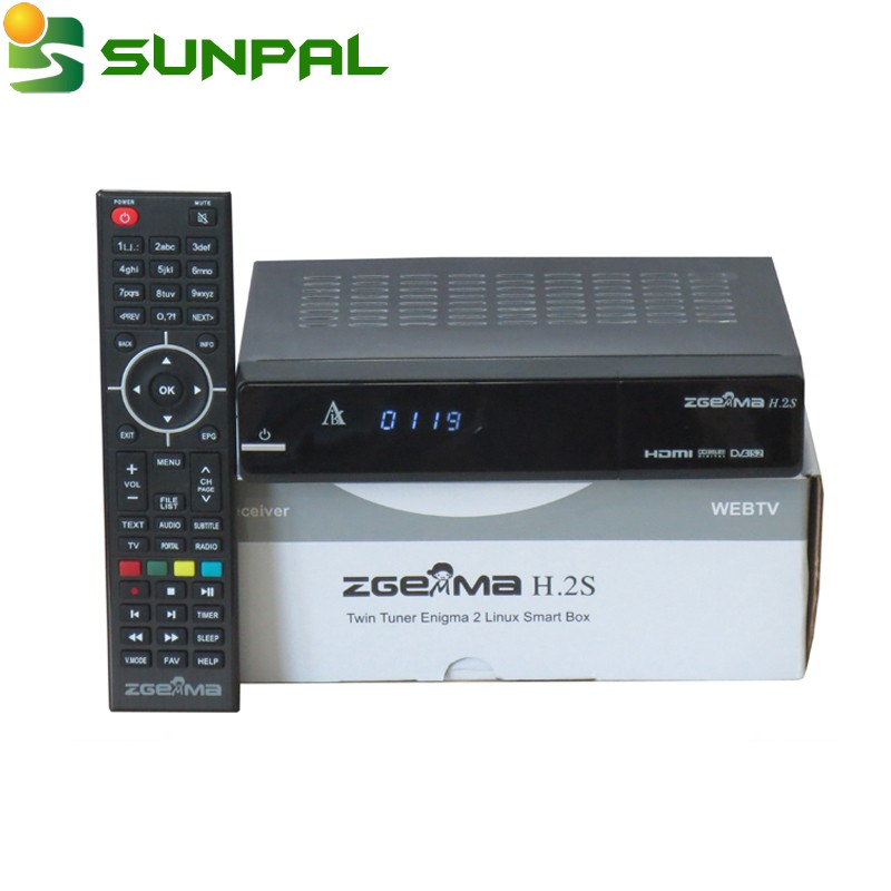 Factory price satellite receiver 3D hd DVB-S2+S2 twoTuner Supported 3D,LAN,USB WiFi iptv ZGEMMA star H.2S