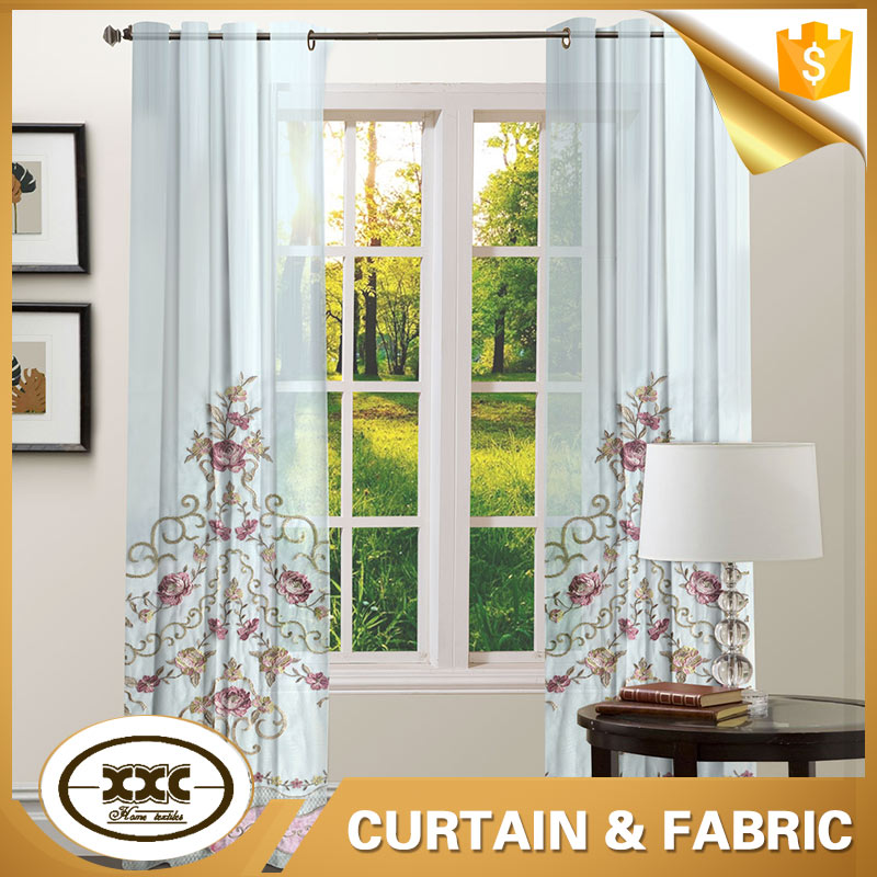 nylon thread high quality embroidery voile curtain