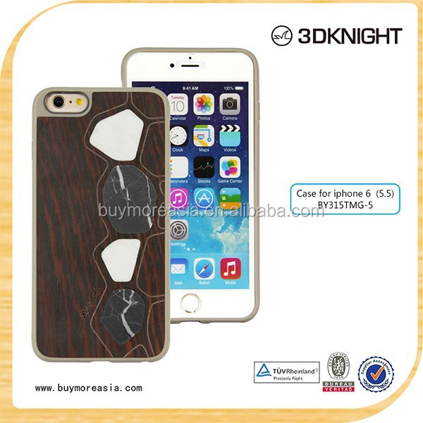 New design marble bumper case for iphone, wood mobile phone case, general mobile case for iphone 6 cover