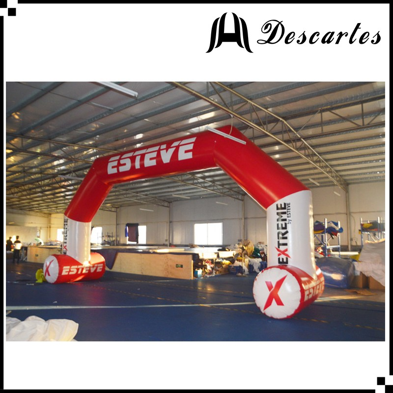 Red W:6m promotional inflatable event arch, custom inflatable advertising arch for sale
