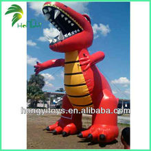 Red PVC Canine Giant Inflatable Dinosaur