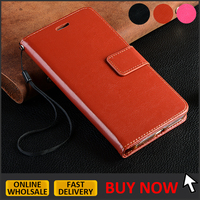 Hot sale leather flip case for iphone 6 plus / 6s plus wallet case with credit card slots