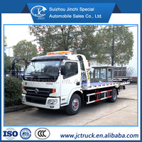 Dongfeng 3ton flat bed towing wrecker truck from China