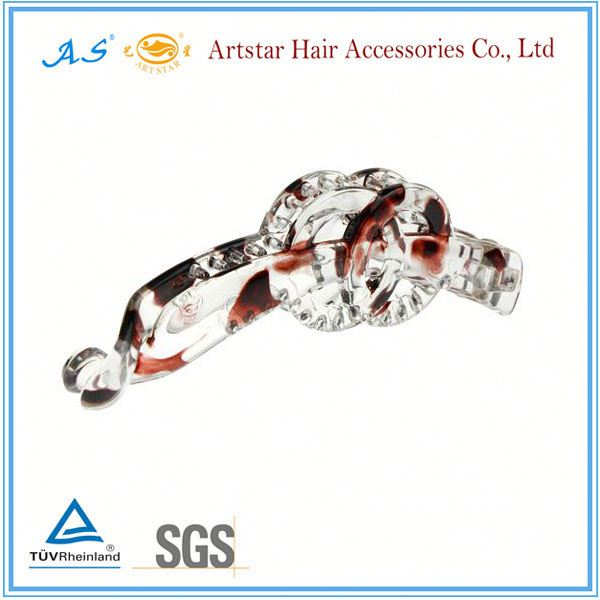 Artstar clear plastic hair clips 7695