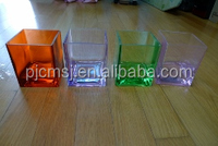 cheap glass cube vase for home table decoration