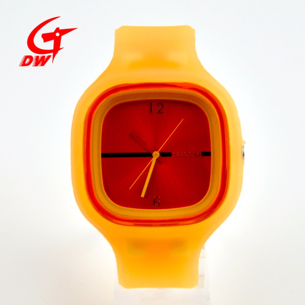 Fashionable jelly quartz watches & silicone jelly watch for lady