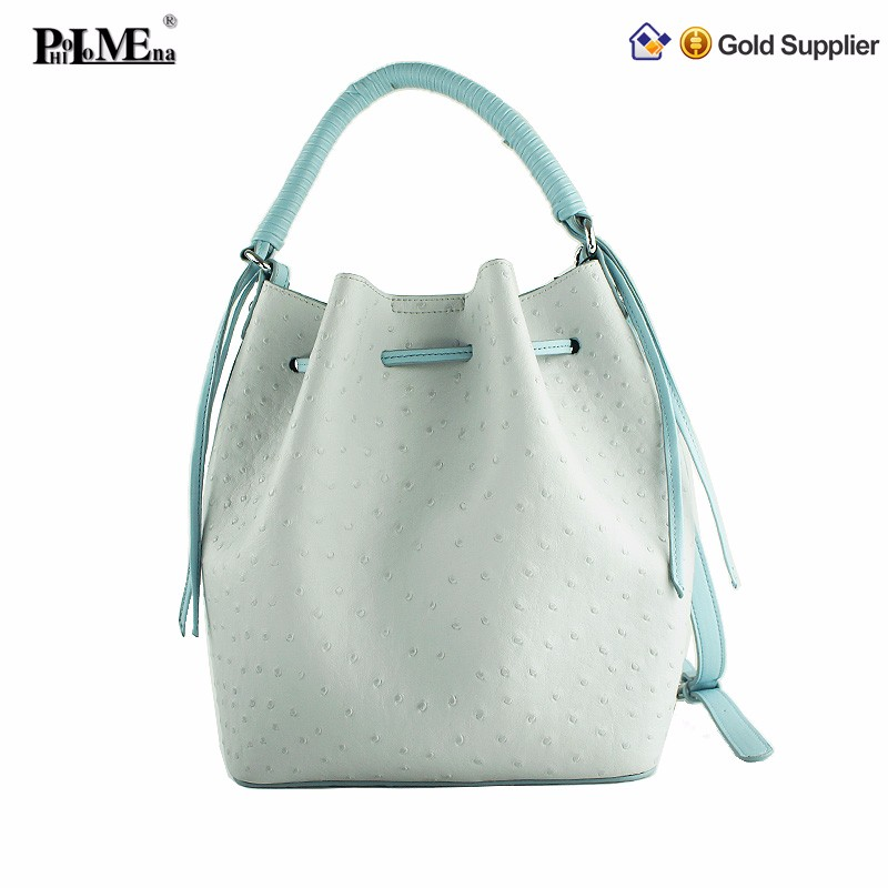 Exotic luxury real stingray leather shoulder bag for women handbag with long strap for lady