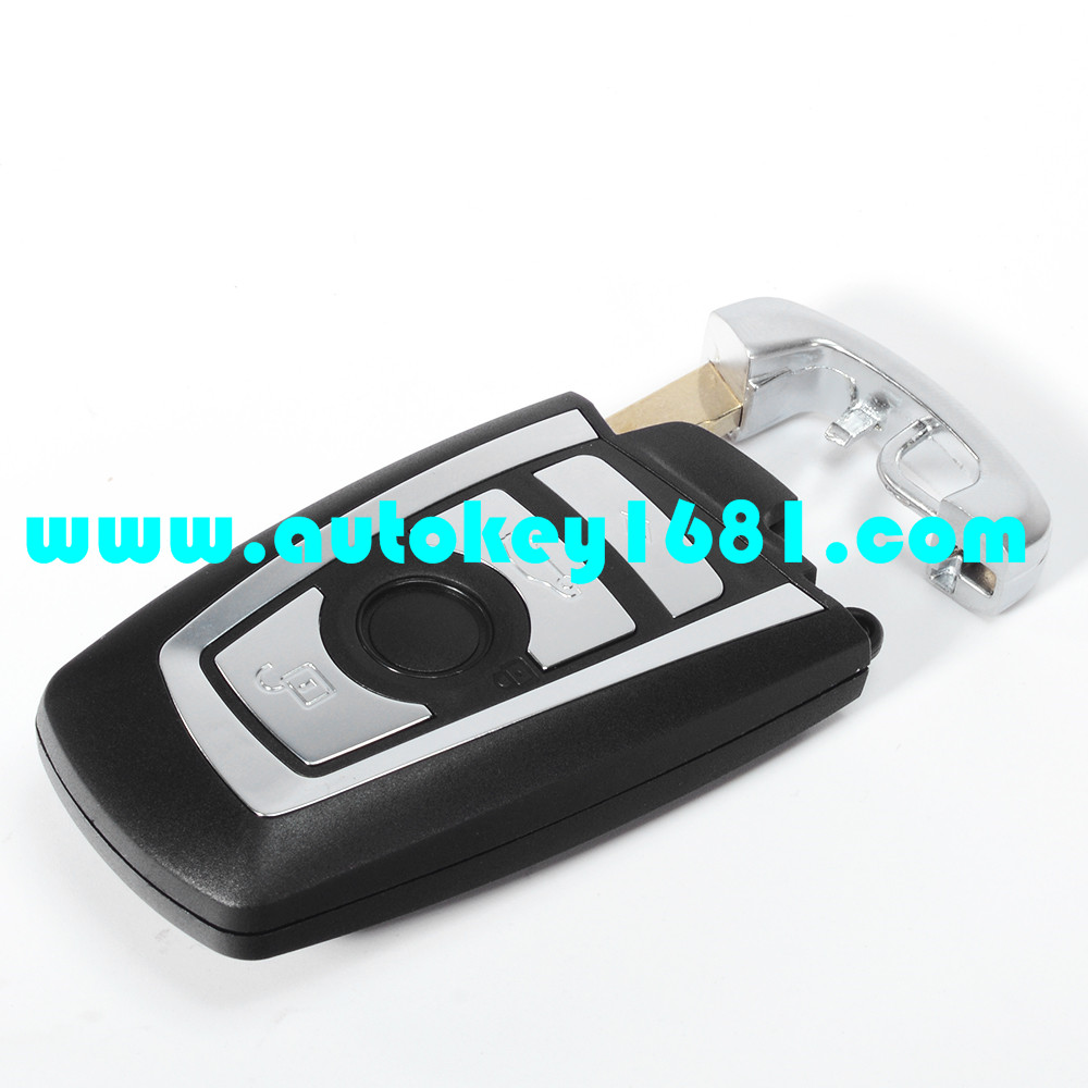 MS newest color smart card replacement shell for bmw 4 button key case with uncut blade