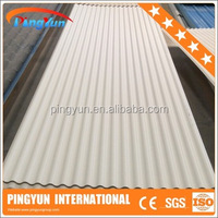 corrosion resistant fire proof building materials corrugated plastic roofing sheet pvc synthetic resin roof tile