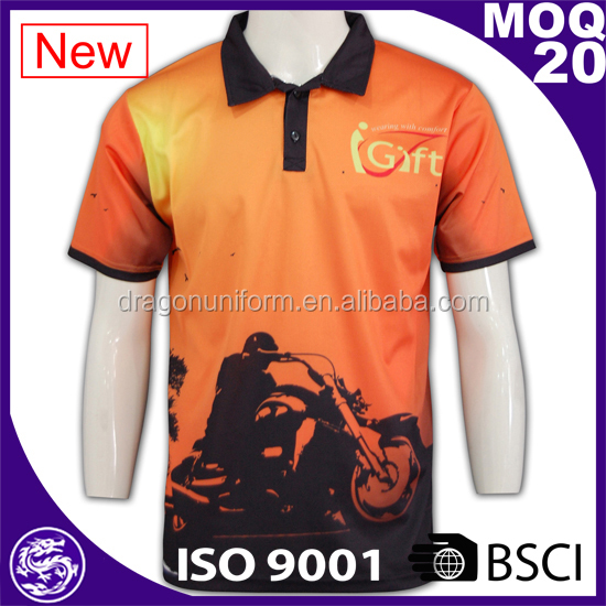 BSCI Wholesale recycling fabric new design custom dry fit polo t- shirts