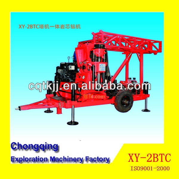 The Lowest Price Hot Chinese muti-function hydraulic crawler core used portable water well drilling rigs for sale with 500m