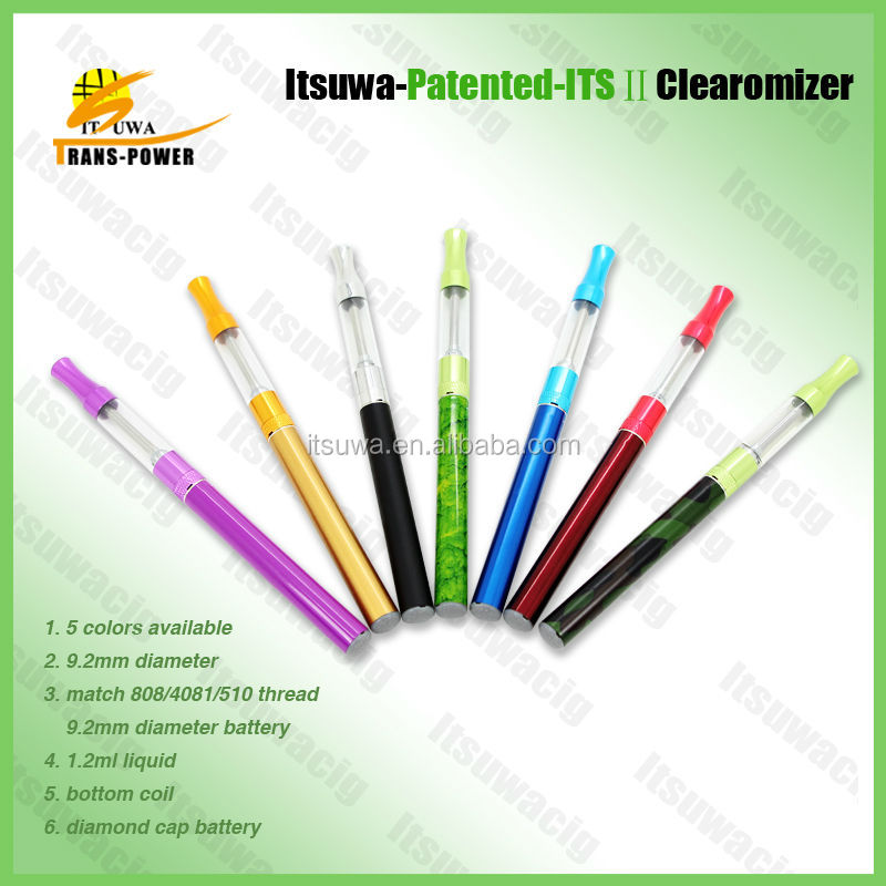 Itsuwa green 808d clearomizer electronic hookah refill cartridges