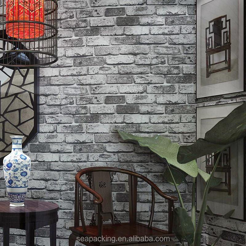 Brick design vinyl 3d wallpaper for home decoration for Home 3d wallpaper wallcovering