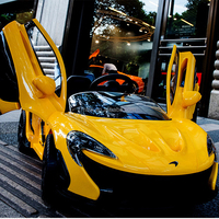 McLaren P1 Ride On Kids Electric Car 12V Remote Control Yellow