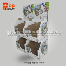sports/football tower shelves cardboard floor display stand