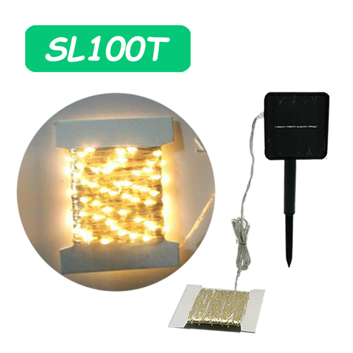 100 LED Mini Flexble Solar String Lights for Decoration