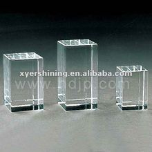 Customized Xyer crystal 3D laser engraving K9 blank crystal for Souvenir