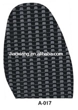 Skid-proof rubber half shoe sole for shoe repair materials