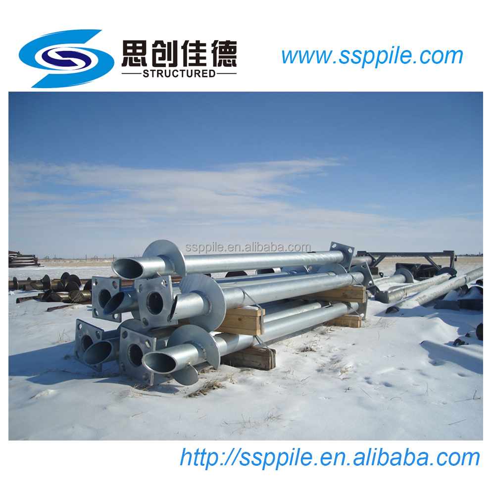 galvanized steel helical screw pile for earth anchor