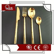 Retro Antique Brass Color Cutlery Set for Kitchen Use
