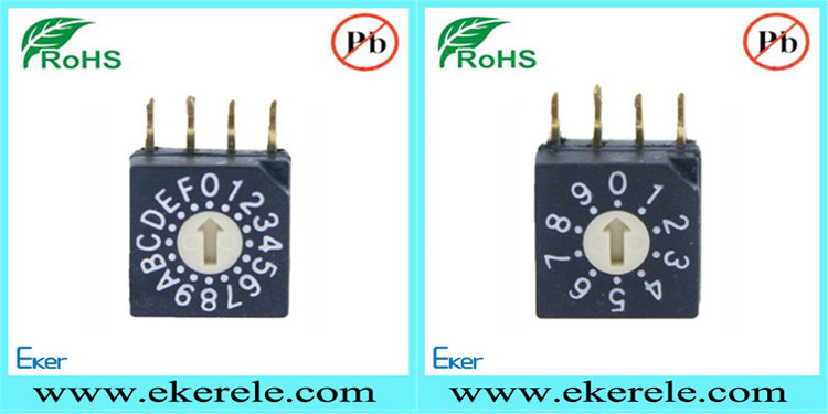 NKK Bremas Thru Hole 3+3=6 Pins 8 Position Cam Rotary Dip Switch