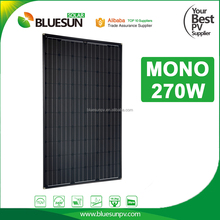 High efficiency black color mono 250w solar panel mono manufacturers in china for home