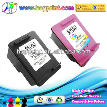 Refillable Ink Cartridge for Hp901 Hp901XL BlacK Color CC654A CC656A Printers Compatible Ink Cartridge for Hp 901