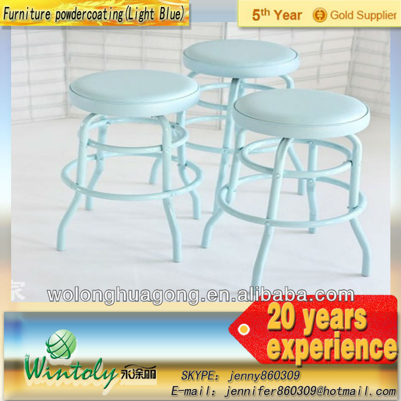 Indoor Furniture chair with Powdercoating(light blue)